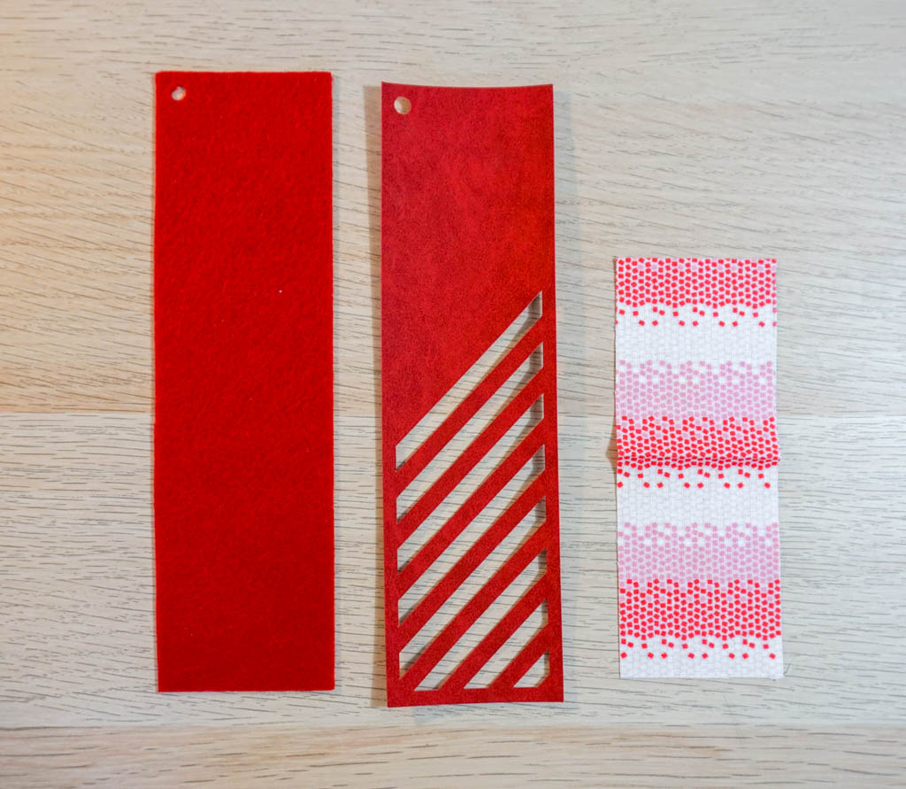 Striped Peekaboo Bookmark