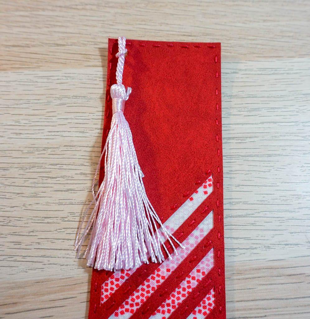 Striped Peekaboo Bookmark