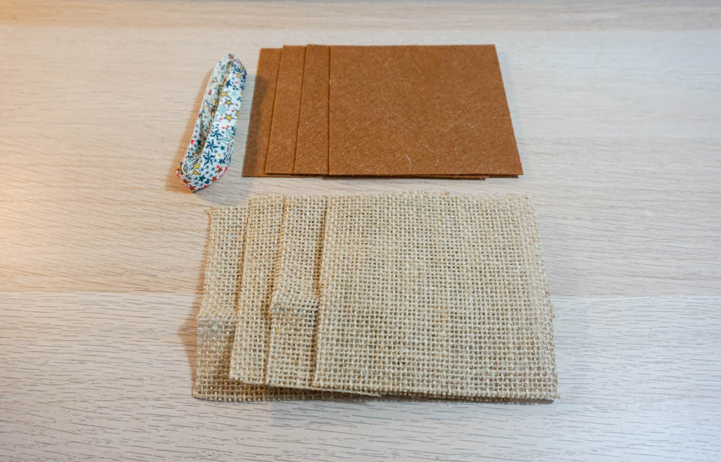 Burlap and Felt Coasters