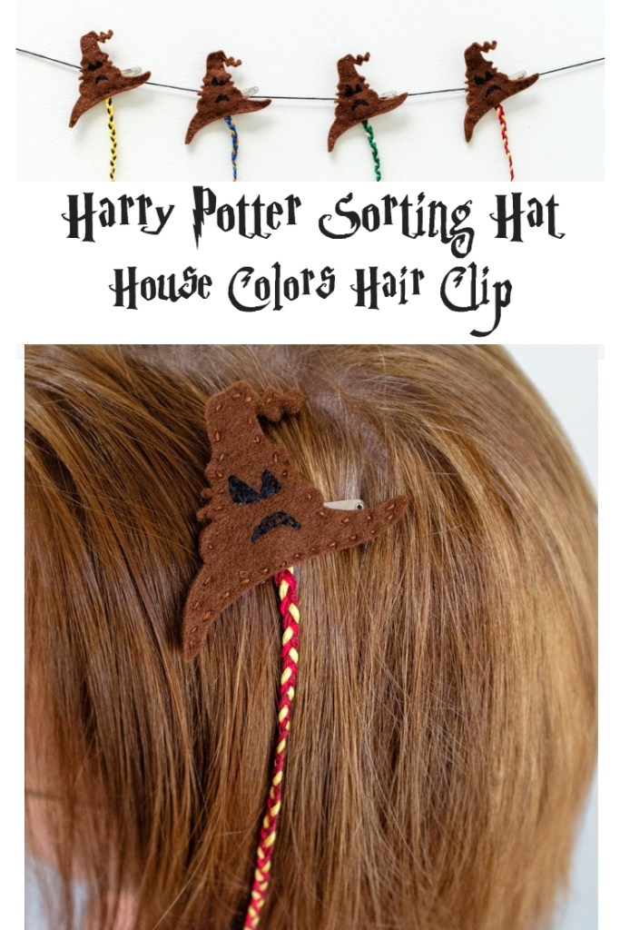 Harry Potter Sorting Hat House Colors Hair Clip