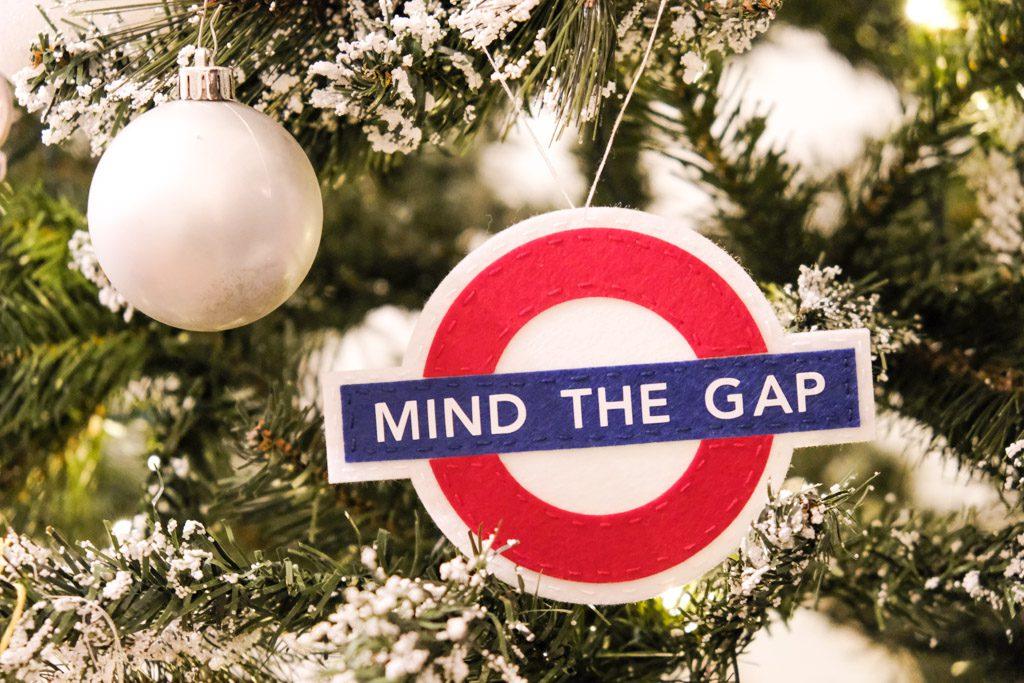 Mind the Gap London Underground Felt Ornament