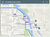 Explore Albion River Trail and nearby art, markers, and Purple Gang points of interest.