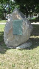 Underground Railroad Memorial honoring Adam Crosswhite