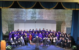 Albion College and Marshall Middle School choirs at the 2017 MLK Convention at the Bohm Theatre