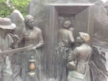 Underground Railroad sculpture Battle Creek