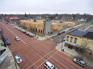 Progress for March 2017 in downtown Albion