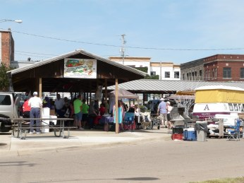 Stoffer Plaza in Albion is the home of the Albion Farmer's Market and also the French Market.
