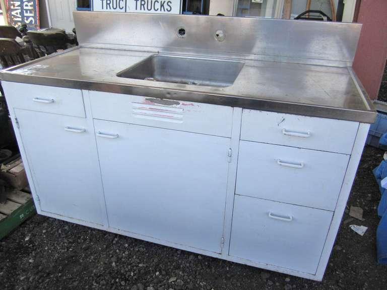 50s vintage steel kitchen sink cabinet