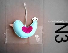 Mint Bird with Heart