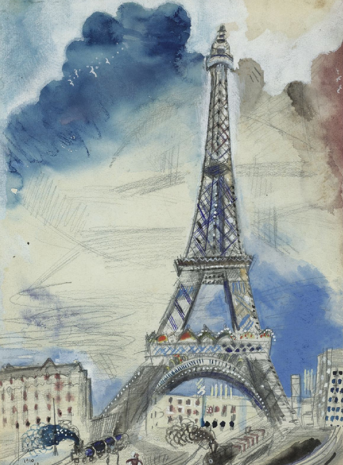 Marc Chagall – La Tour Eiffel (1910)