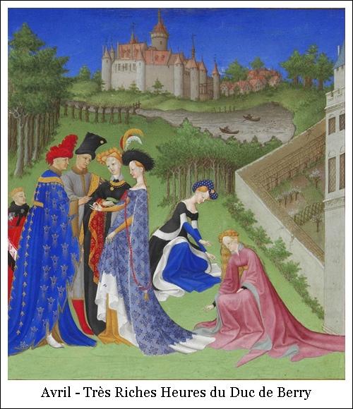 Avril –  – Très Riches Heures du Duc de Berry