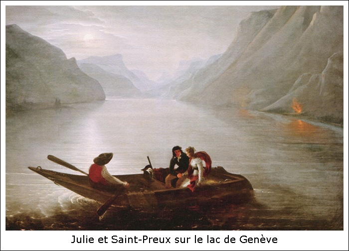 Julie et Saint-Preux sur le lac de Genève