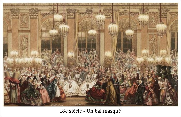 18e siècle – Un bal masqué