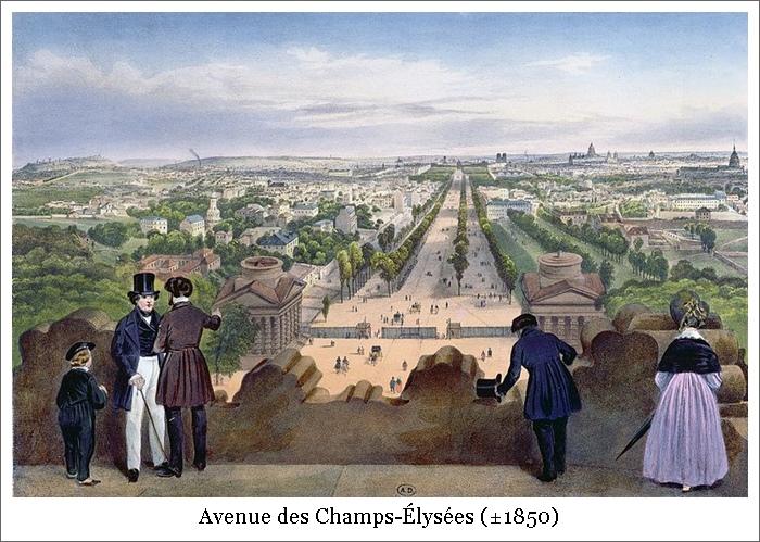 Avenue des Champs-Élysées (±1850)