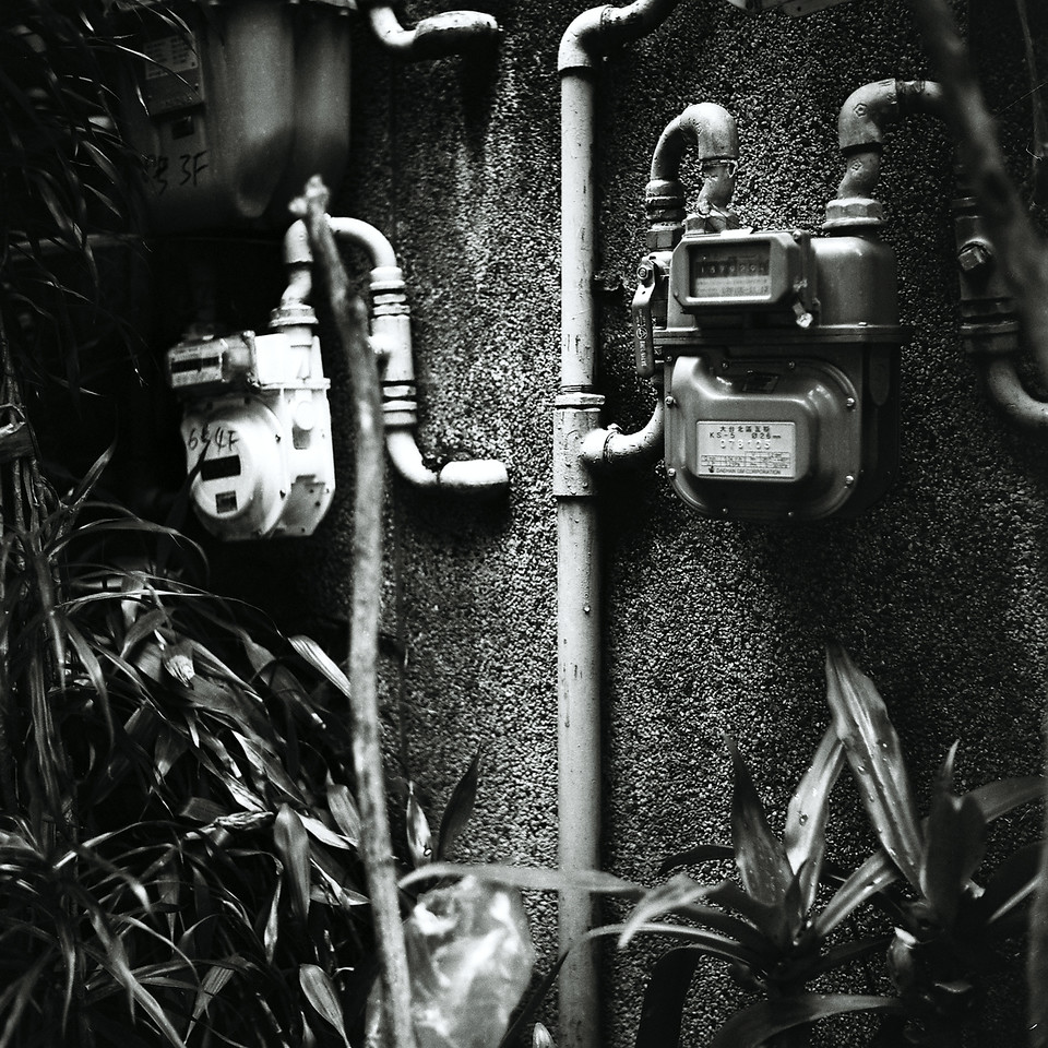 On the meter - Shot on Rollei Superpan 200 at EI 400. Black and white negative film in 120 format shot as 6x6.
