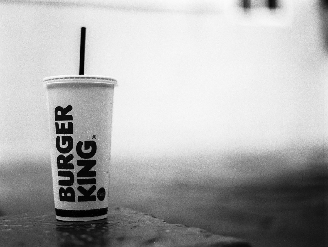 Have it your way - Shot on Kodak Tri-X 400 at EI 800. Black and white negative film in 120 format shot as 6x4.5. Push processed one stop.