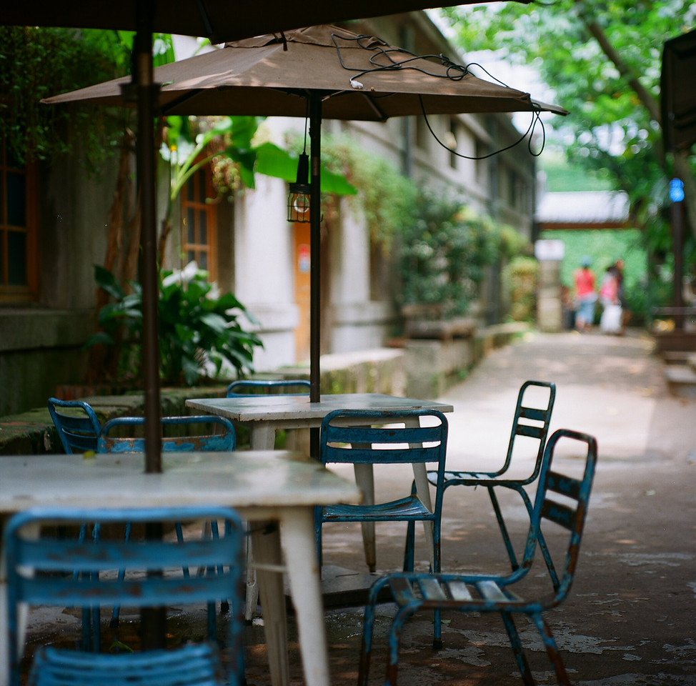 Wait to be seated - Shot on Kodak Ektar 100 at EI 100. Color negative film in 120 format shot as 6x6.
