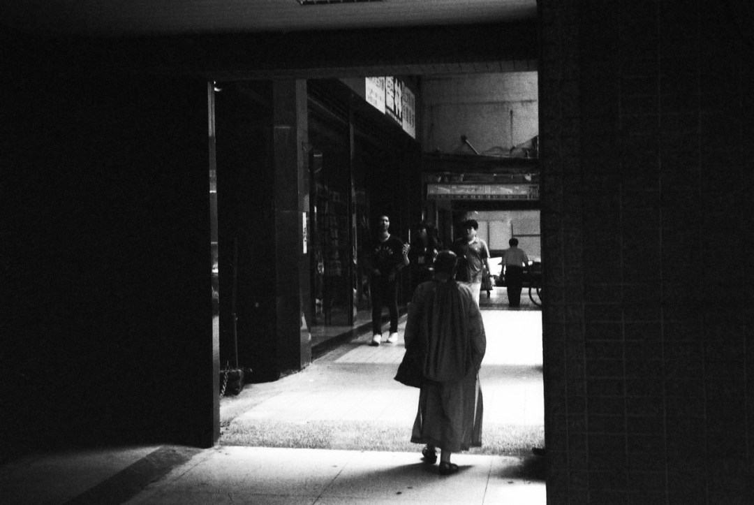 Passage - Shot on Kodak Tri-x 400 at EI 6400. Black and white negative film in 35mm format. Push processed 4-stops.