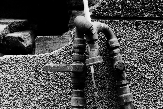 Pipes - Shot on Kodak Hawkeye Traffic Surveillance Black and White Film 2485 at EI 800. Black and white negative film in 35mm format. Push processed one-stop.