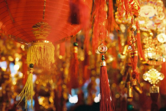 New Year Red and Gold - Shot on Kodak Hawkeye color surveillance film (2486) at EI 400. Color negative film in 35mm format.