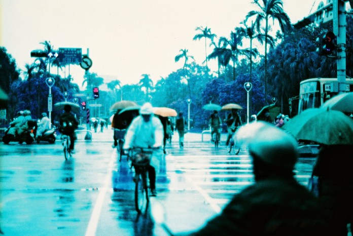 Rainy days, rainy haze - Shot on Lomography Lomochrome Purple XR 100-400 at EI 400. Color negative film in 35mm format