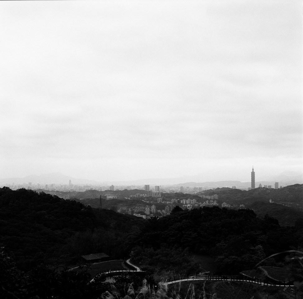 Urban sprawl - Rollei Infrared 400 shot at EI 400. Black and white negative infrared sensitive film in 120 format.