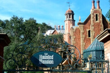 Disney World\'s Magic Kingdom\'s Haunted Mansion attraction.