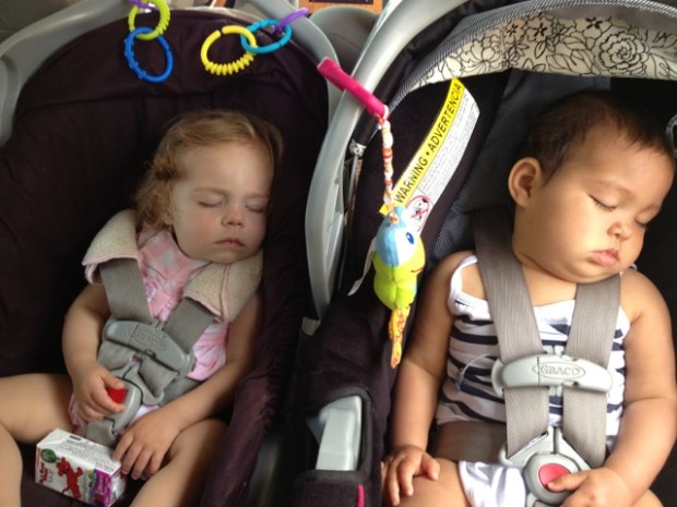 Two tuckered little ones.