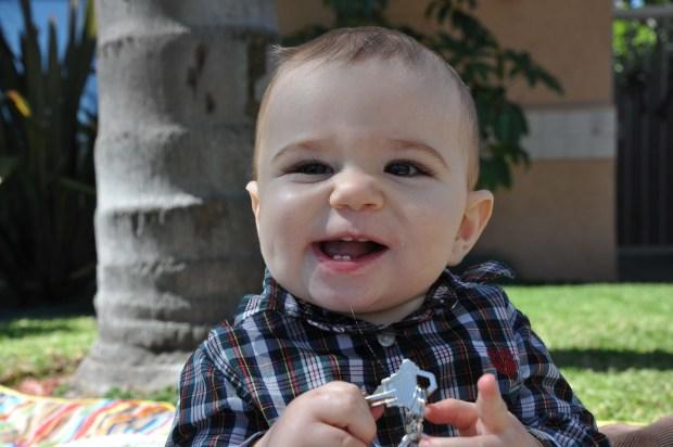 All those teeth, happy boy!