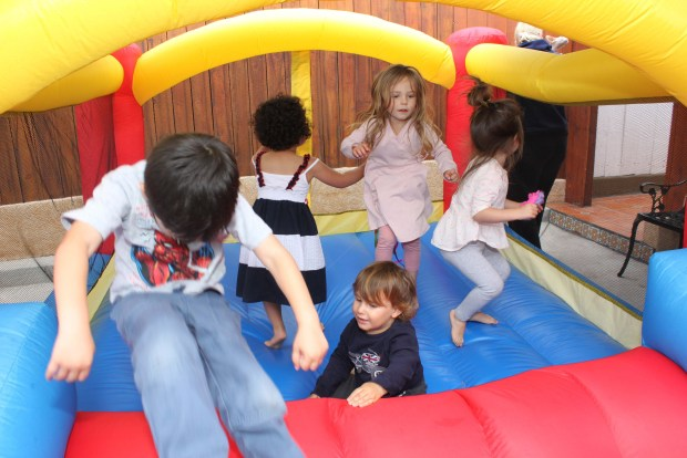 More jumpy house.