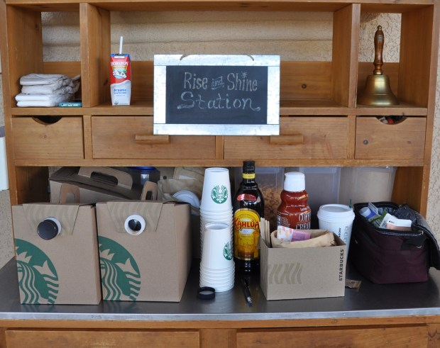 Rise and Shine - coffee station.