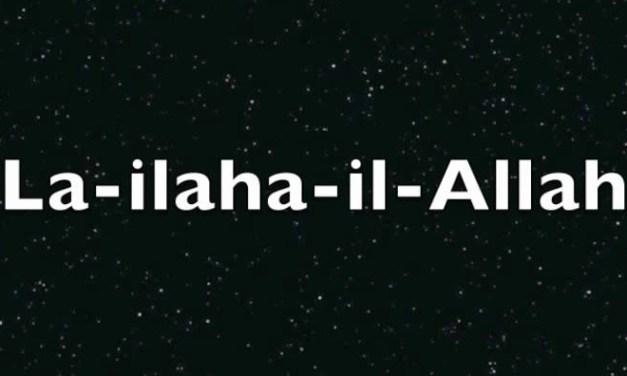Il n'y a pas de Dieu, il y'a seulement Allah