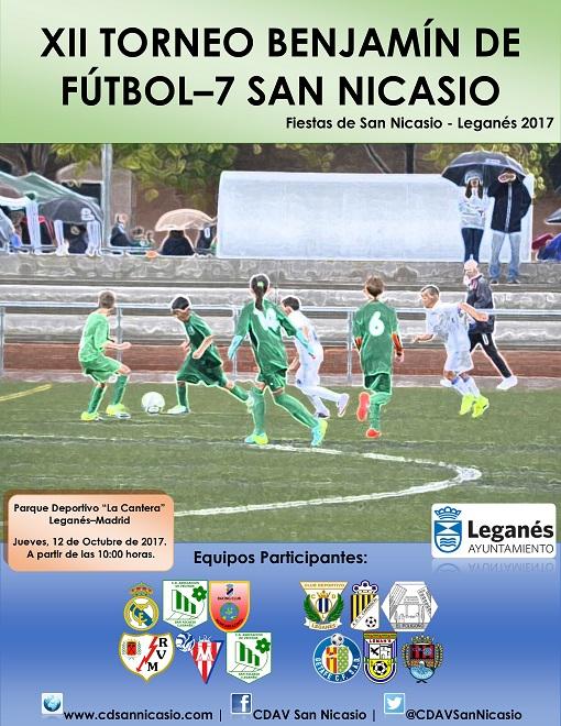 Cartel Torneo benjamín San Nicasio