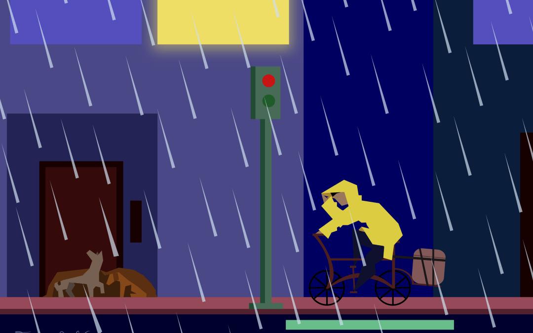Pobre y precaria lluvia