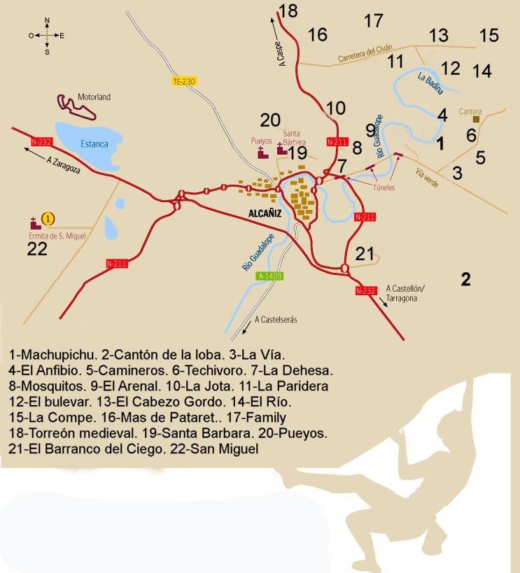 Alcañiz, destino boulder a nivel internacional y nacional - Fuente: http://www.boulderalcaniz.com/