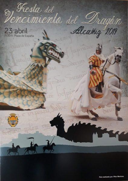 Vencimiento del Dragón en Alcañiz, día de San Jorge