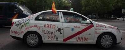 La huelga del taxi