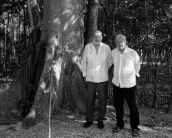 AMLO se reúne con Carlos Slim para evaluar obras del Tren Maya