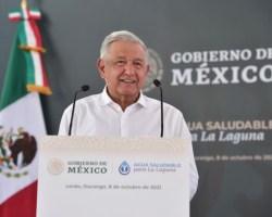 AMLO anuncia el arranque del proyecto de Agua Saludable para La Laguna