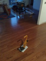 Oak Flooring, installation in progress