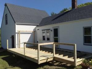 Progress on the railings
