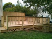 Deck with privacy fence - side view