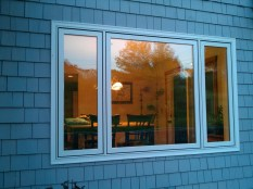 Vinyl clad casement window - exterior