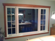 Vinyl clad casement window - interior with cherry trim