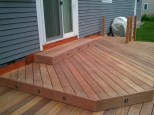 Cumaru Deck - Decking installed at 45 Degrees