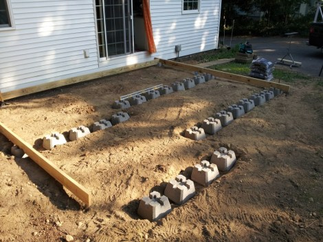 Floating deck with precast footings for How much to build a floating deck