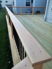 Detail of the top rail. Love how the tight grain looks.