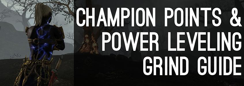 Power leveling and grind guide eso banner