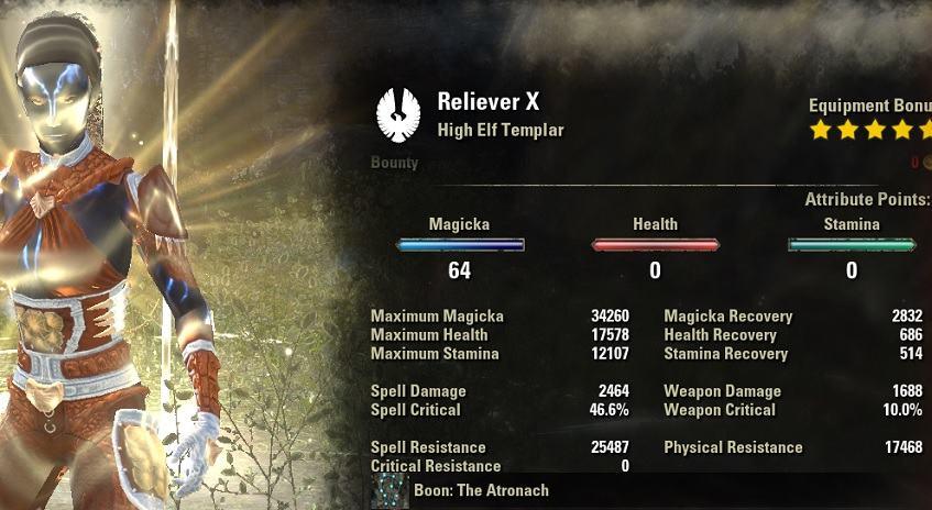 Templar Healer Build PvE Reliever