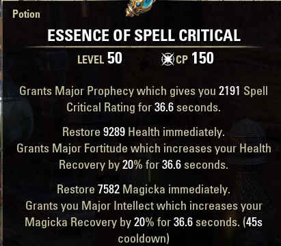 essence of spell critical potion